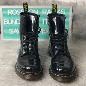 Dr. Marten Patent Leather Boot Black11821 Sz 6 EUC